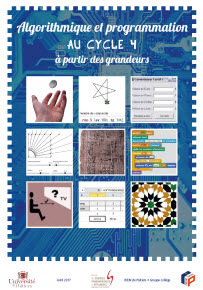 Couverture Brochure Algorithmique Cycle4